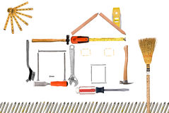 Tool home montage Royalty Free Stock Photography