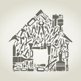 Tool the house stock illustration