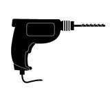 Tool icon image. Power drill tool icon image vector illustration design Royalty Free Stock Photo