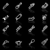 Tool icon set royalty free illustration
