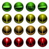 Tool icon set Stock Images