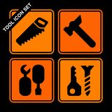 Tool icon set Royalty Free Stock Image