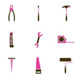 Tool icon set vector Royalty Free Stock Photography