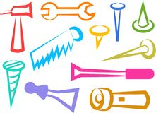 Tool icons Royalty Free Stock Image