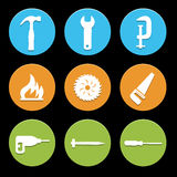 Tool icons set great for any use. Vector EPS10. Stock Image