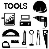 Tool icons set Royalty Free Stock Photos