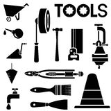 Tool icons set Royalty Free Stock Photography