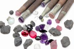 Tool jewel lapidary. On white background royalty free stock image