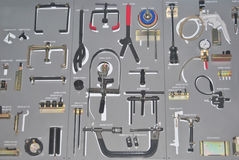 Tool kit. For repairing motorcycles Royalty Free Stock Photography
