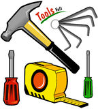 Tool kit. Select the right tool and fix it up Royalty Free Stock Photography