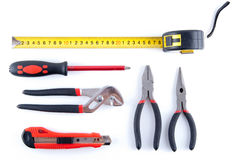 Tool kit. Isolated on white Stock Photography