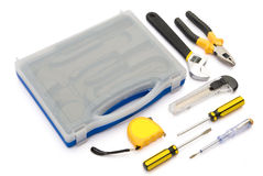 Tool kit accessories Royalty Free Stock Images