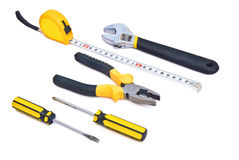 Tool kit accessories. With clipping path Stock Photography