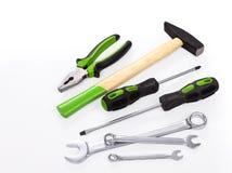 Tool-Kit auf weißem Hintergrund Stockfoto