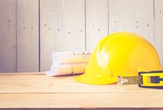 tool kit construction  planning concept Stock Photography