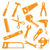 Tool Kit Icons. Tool icons. Easy to change colour Royalty Free Stock Photography