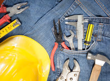 tool kit in jean pocket Stock Images