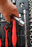 Tool kit for the mechanic of a car Royalty Free Stock Photography