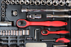Tool kit for the mechanic Stock Photos