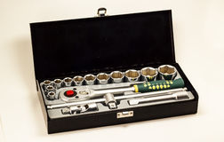 Tool kit. Set of tools for screwing nuts of different sizes Royalty Free Stock Photo