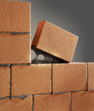 Tool for laying. And bricks royalty free stock image