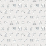 Tool line icon pattern set Royalty Free Stock Image