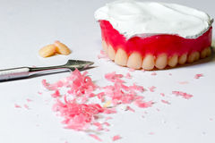 Tool for making wax dentures model Stock Photos