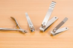 Tool of manicure set Stock Images