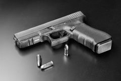 Tool meant to protect. Modern handgun, weapon to protect own life Stock Image