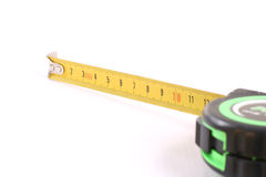 The tool for measurement of length over white. Royalty Free Stock Photo