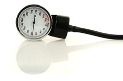 Tool for measuring of blood pressure. Medical tool for blood pressure measuring with reflection Stock Photo