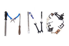 Tool mechanical as alphabet isolated Stock Images