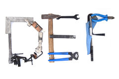 Tool mechanical as alphabet isolated Stock Photography