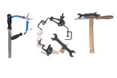 Tool mechanical as alphabet isolated Royalty Free Stock Photos