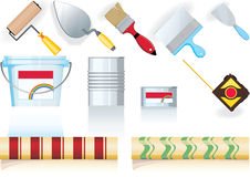 Tool for painters. Vector and raster version Royalty Free Stock Photo