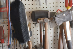 Tool pegboard Royalty Free Stock Image