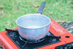 Tool Picnic stove for camp Stock Photos