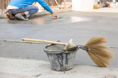 Tool plaster cement. Tool work Floor plaster cement Royalty Free Stock Images