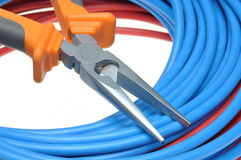 Tool pliers cutting and cable Stock Photo