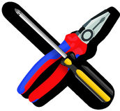 Tool, Pliers, Screwdriver Royalty Free Stock Photo