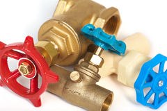 The tool of the plumber. The plumbing Stock Photography