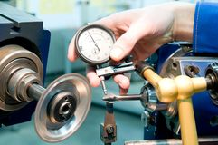 Tool quality measuring process Stock Images