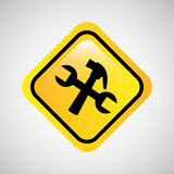tool repair support sign icon graphic Royalty Free Stock Photo
