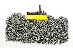 Tool and screws Stock Images