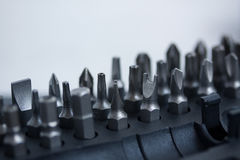 Tool set with different nozzles macro stock photography