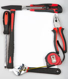 Tool set forming a frame on white background Stock Photo