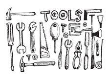 Tool Set Hand Draw Stock Photos