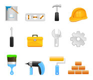 Tool set icons Stock Image