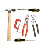 Tool set isolated on white Royalty Free Stock Images