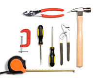 Tool set isolated on white Stock Images